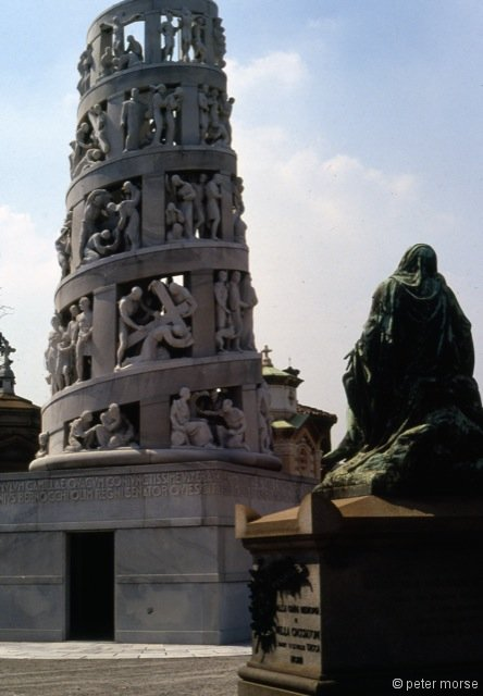 The Bernocchi Monument (1935) by Alessandro Minali (Architect) and Giannino Castiglioni (Sculptor)