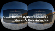 A few experiments (more soon) with Oculus Rift: EXPERIMENT 1: OR-U3D Experiment 1 from Peter Morse on Vimeo. An afternoon and evening faffing around with the Oculus Rift DK1 and Unity 3D, getting a first very rough sketch of my […]
