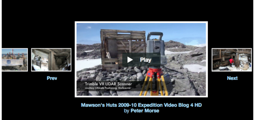 Mawson's Huts Visualisation Projects by Peter Morse